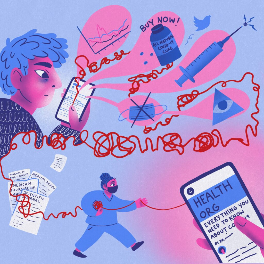 Combating Misinformation by Sophie Ainsworth, Artwork by Rowan Frewin